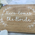Here Comes The Bride Sign, Flower Girl Sign, Page Boy Sign, Wedding Sign, Rustic