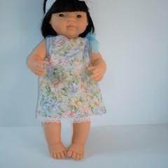 Miniland 38cm doll dress headband and pair of undies set