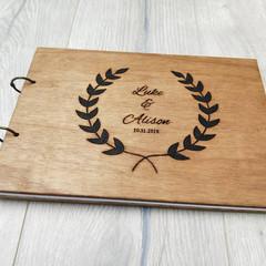 Wooden Wedding Guest Book