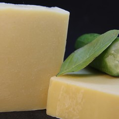 Cucumber & Basil Soap made with Fresh cucumber juice and basil infused olive oil