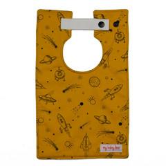 Mustard Space Style Bib