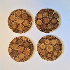 Pine Cone Coasters (round)