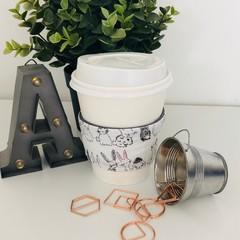 Bunny / Rabbit Coffee Cup Cozy