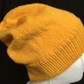 Unisex childs hand knit slouchy-beanie Bamboo-Wool Stellar 1/2
