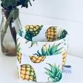 Pineapple Fabric Mini Linen Fabric Basket.