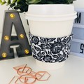 Coffee cup cozy in Classic Black and White