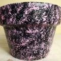 Painted terracotta pot