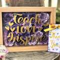 Custom Made 3D Rose Frame - Teachers Gift