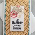All Geared Up Handmade Card