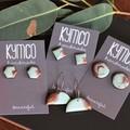 Jade + Copper resin earrings - various styles