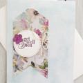 Get Well Soon Handmade Card - Purple Flower