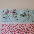 TODDLER/JUNIOR PILLOW - PINK AND WHITE