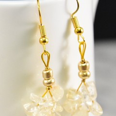 Citrine Dangle and Drop Earrings made from Citrine Chip