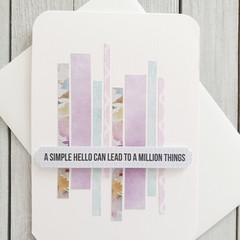 A Simple Hello Handmade Card