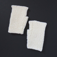 Pearl White Texting Mitts Ready To Post