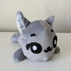 Cat Plushie, Soft Toy, Kids Stuffed Toy Handmade from Minky