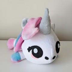 Unicorn Plushie, Soft Toy, Kids Stuffed Toy Handmade from Minky