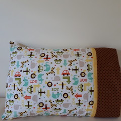 TODDLER/JUNIOR PILLOW - OH BOY FABRIC