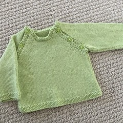 CLEARANCE 50% off - Lime Newborn Jumper - Hand knitted Pure wool