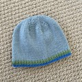 CLEARANCE 50% off Blue  Baby Hat - Hand knitted - up to 3 months
