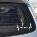NURSE HEARTBEAT car window decal sticker