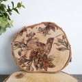 Floral Hummingbird Birch Wood Slice Wall Art Decor