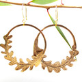 Goldern Fern Hoop Earrings