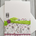 Happy Big Day Handmade Card