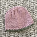 CLEARANCE 50% off - Pink Newborn Baby Hat - Hand knitted - wool cashmere