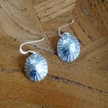 Recycled Silver Shell Earrings