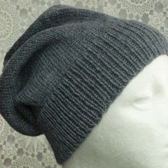 Unisex adult hand knit Slouchy/beanieStellar 2/4