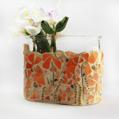 Oranges and lemons vase in mosaic