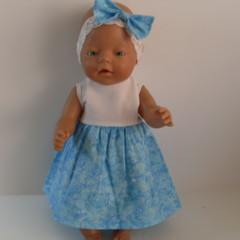 Baby Born doll clothes dress and headband