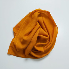 Wool Scarf Fringe Small Gold