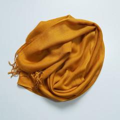 Wool Scarf Fringe Gold