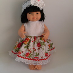 Miniland dolls clothes dress and headband