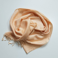 Wool Scarf Fringe Blush