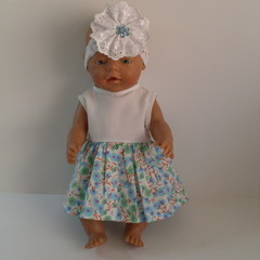 Baby Born doll clothes dress and headband