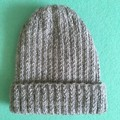 Handknitted Grey Children's Beanie