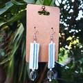 Stripe Dangle Earrings