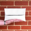 Envelope Clutch - White Flowers
