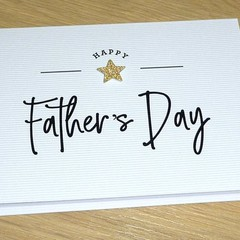 Father's Day card - gold star