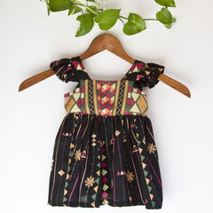 Eco Cotton Flutter Toddler Dress Size 1