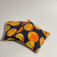 Oranges - Handwarmers. Heat in Microwave. Pocket Warmers - 2.