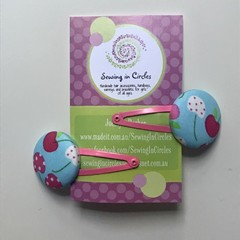 Cherry blossom hair clips