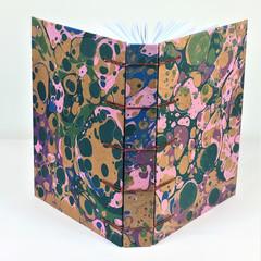 Handmade Journal or Sketchbook using Secret Belgian Stitch, Lays  Flat