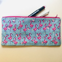 Flamingos pencil case