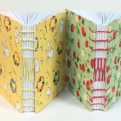 Twin Pack of Pocket Journals,  Pocket Sketchbooks, Pocket Notebook, Lays Flat