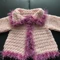 Baby Jacket- Hand crocheted