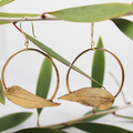 Eternal Leaf Hoop Earrings